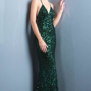 Scala Green Sequined Dress
